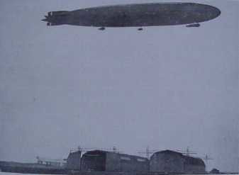 LZ 85 Zeppelin over Tønder