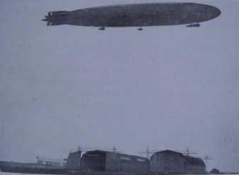 LZ 85 Zeppelin over Tønder