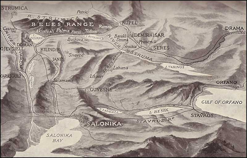 Map of Salonica Front