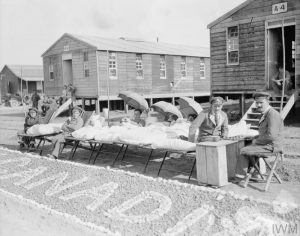 Soldiers Sunbathing Outside No. 4 Canadian General Hospital
